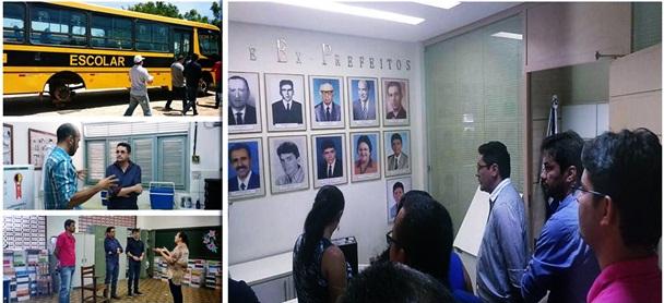 Milagres-CE: Prefeito Lielson e equipe visitam prefeitura e secretarias
