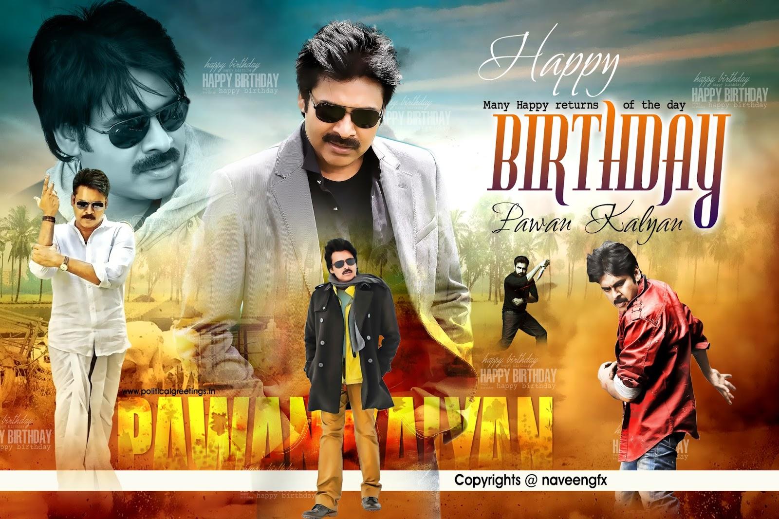 pawan kalyan birthday poster psd template free downloads | naveengfx
