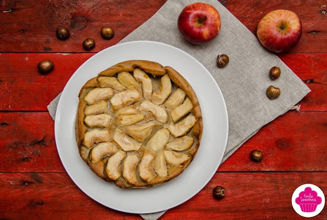 Clafoutis aux pommes et lait de noisettes - lait végétal