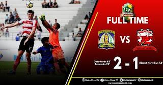 Persiba Taklukkan Madura United 2-1