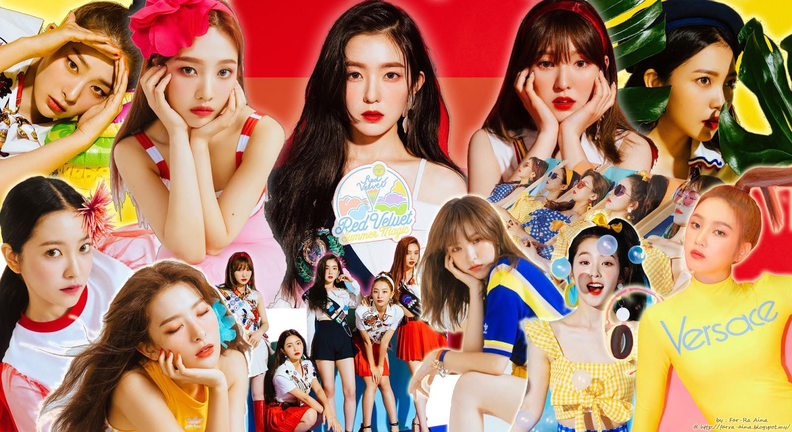 K Pop Lover Red Velvet Summer Magic Wallpaper