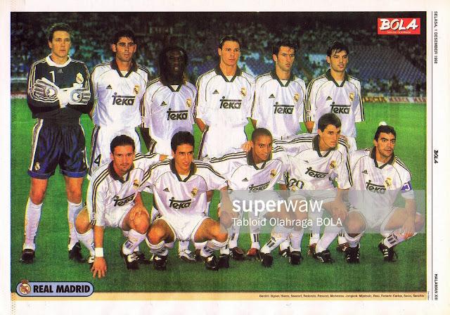 REAL MADRID 1998 TEAM SQUAD