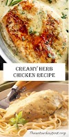 CREAMY HERB CHICKEN RECIPE