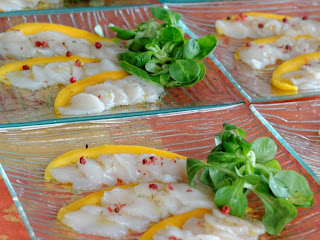 Carpaccio de St Jacques à la mangue