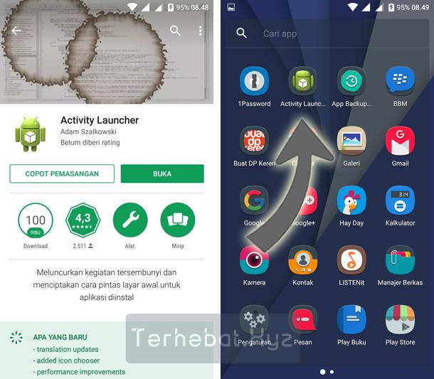 cara menggunakan activity launcher di android