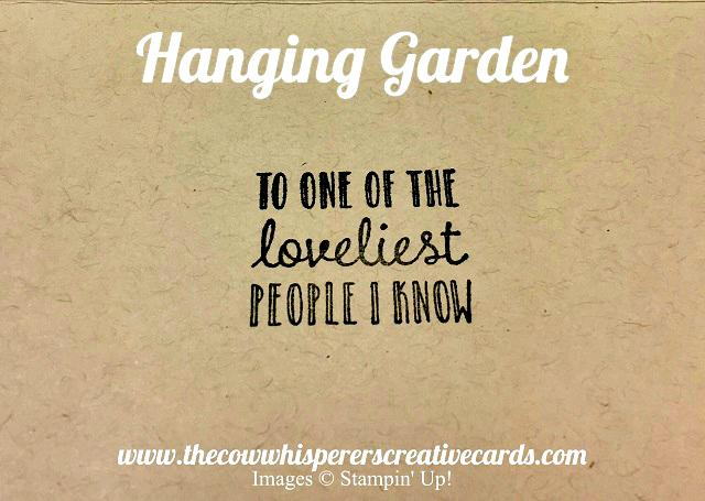 Card, Hanging Garden, Stampin Blends, Metallic Ribbon