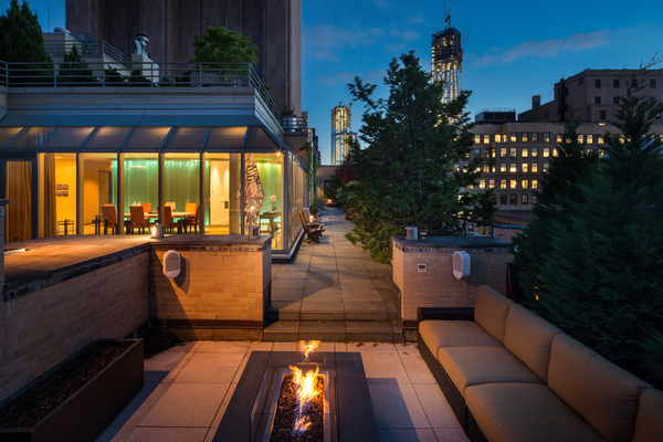 Photo of 66 Leonard Street penthouse terrace as see from the siting area