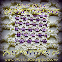free crochet patterns, vintage, v-stitch, how to crochet,
