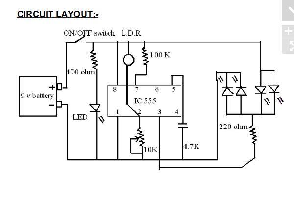 light sensor circuit circuit diagram