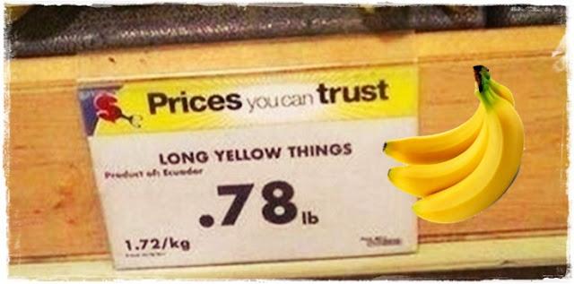 long yellow things = bananas!