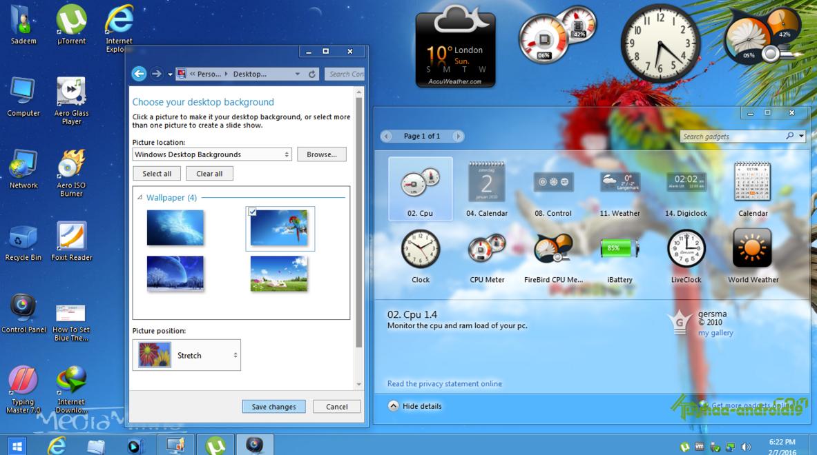 Windows 7 Aero Blue Lite Edition 2016 (x86)