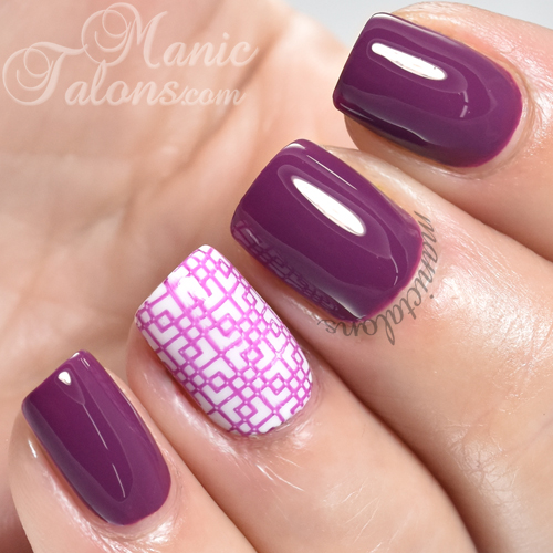INM Out The Door Nail Lacquer Grape Escape Swatch