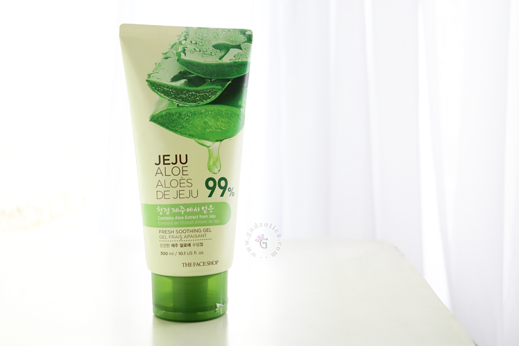 The Face Shop Jeju Aloe 99% Fresh Soothing Gel Tube