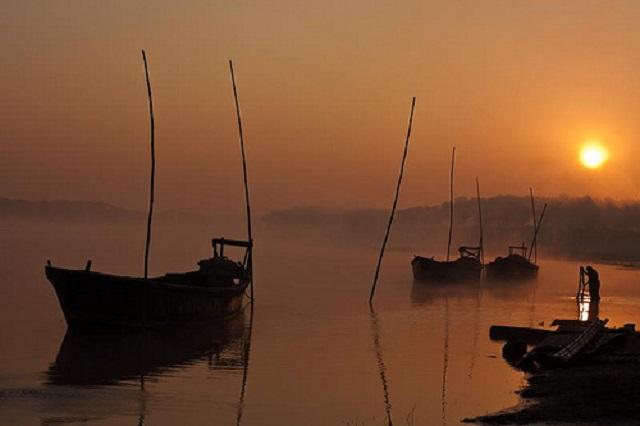Sunrise at Brahmaputra River Ghat