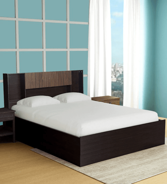 Kaori Queen Size Storage Bed In Wenge Finish by Mintwud