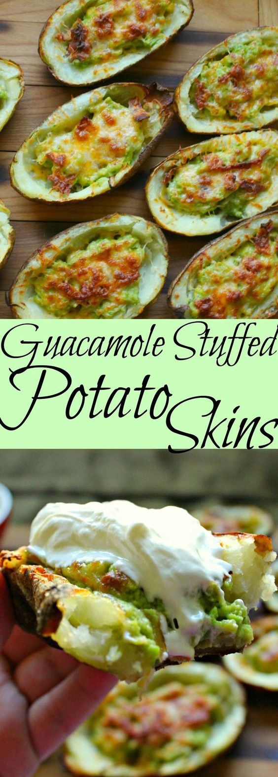 GUACAMOLE STUFFED POTATO SKINS