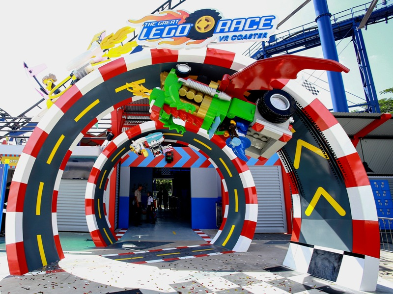 legoland malaysia lego themed virtual reality roller coaster