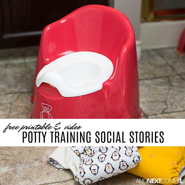 Free social stories about potty training