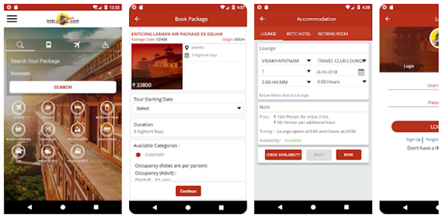 IRCTC Tourism Mobile App -YouthApps