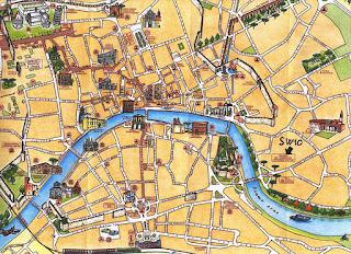 Mapa turístico de Pisa.