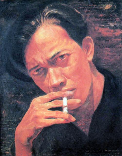 Lukisan Chairil Anwar, karya Gusti Solihin - teraSeni