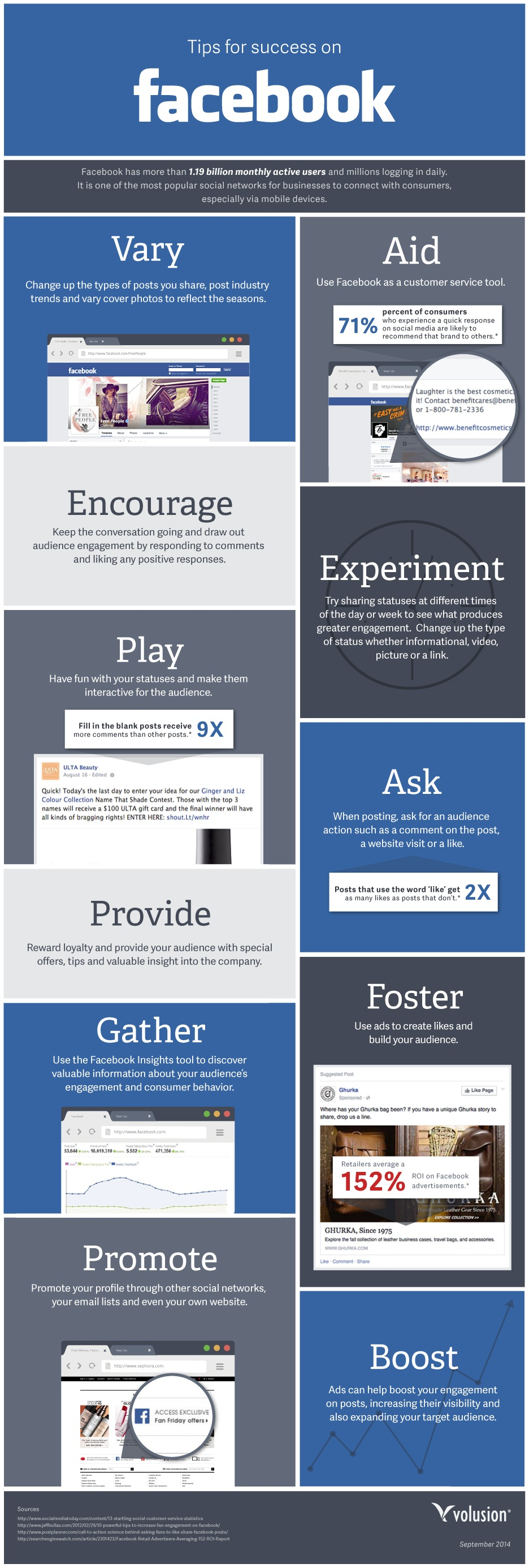 Marketing Tips for success on Facebook for companies - #infographic