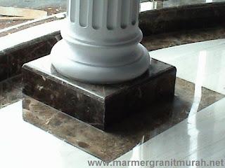 detail kolomb base marmer dark emperador