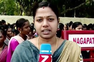 Govt arts college students protest at Thiruvarur : reporter update | News 7 Tamil