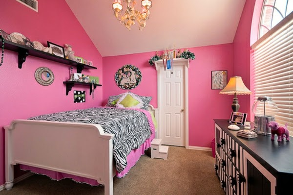 10 dormitorios juveniles en rosa y negro dormitorios colores y estilos. Black Bedroom Furniture Sets. Home Design Ideas