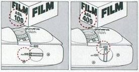 Olympus XA1 Film ASA Setting