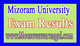 Mizoram University B.Tech ECE IVth Sem 2016 Exam Results