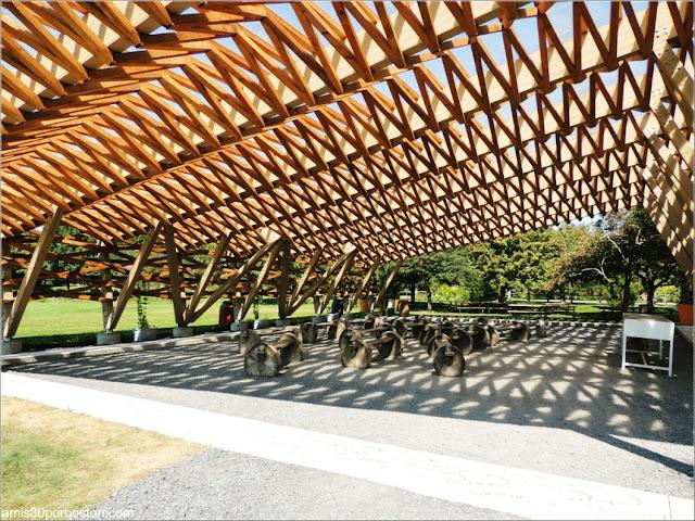 Pérgola del Youth Gardens en el Jardín Botánico de Montreal
