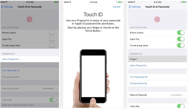 Touch ID and Passcode