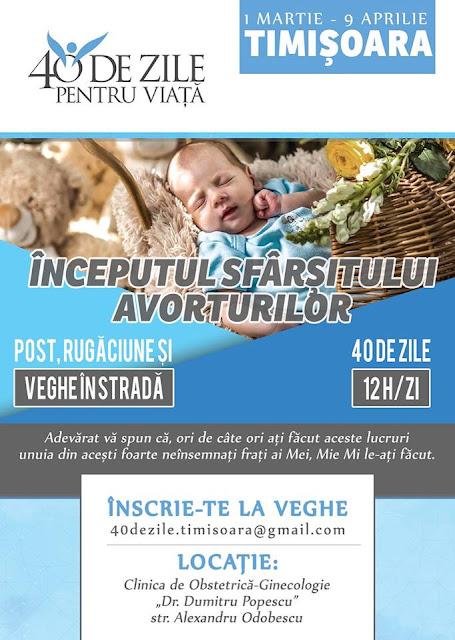 40 De Zile Pentru Viață la Timișoara (01 martie - 9 aprilie 2017)