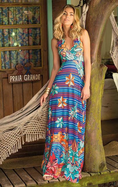 Resultado de imagem para looks lindos de vestidos longos para o verão 2017