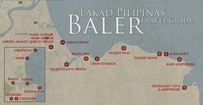 Baler Tourist Spots Map