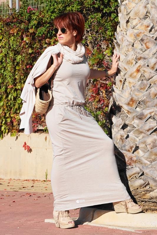 Almamodaaldia - Vestido largo de punto