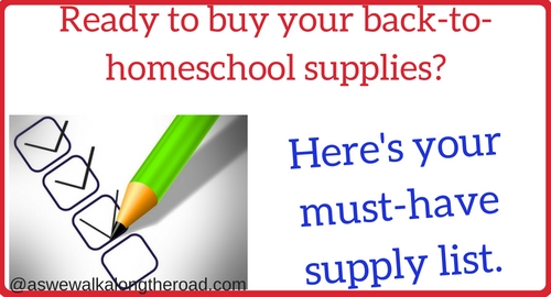 Back to homeschool supplies