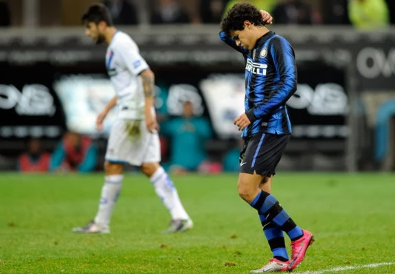 Philippe Coutinho scored five goals in 47 games for Inter Milan between 2010 and 2013