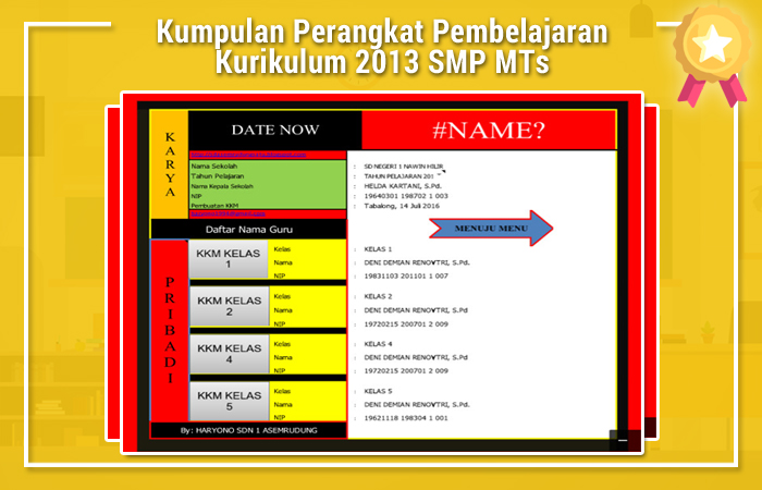 Aplikasi KKM Kurikulum 2013 Revisi 2017 SD Format Excel