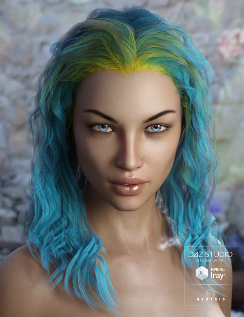 Ajax Hair for Genesis 3 Female