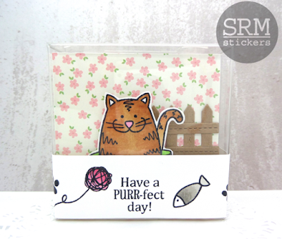 SRM Stickers Blog - PURR-fect Day by Annette - #cards, #cardset #minicards #clearstamps #janesdoodles #acatslife #clearcontainers #giftset #DIY