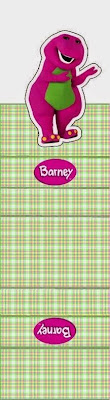Barney: Free Printable Original Nuggets or Gum Wrappers.