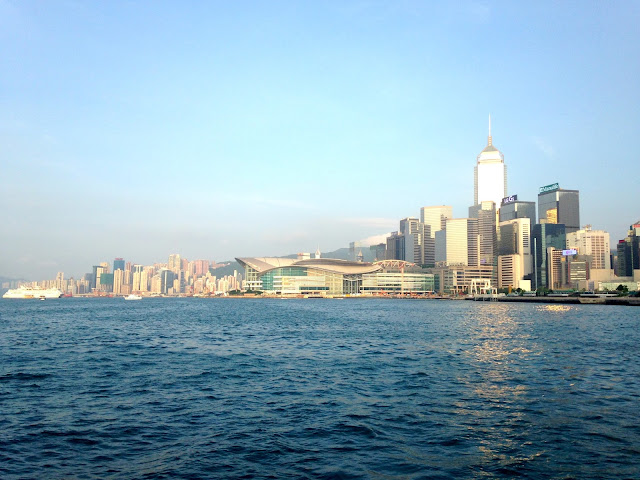 Central skyline from Victoria Harbour, on the junk boat | Hong Kong