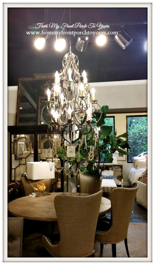 Laurie's Home Furnishings-Beaded Chandelier- From My Front Porch To Yours