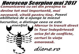 Horoscop mai 2017 Scorpion
