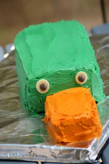 Perry the Platypus Cake - Phineas and Ferb