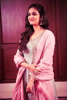 Keerthy Suresh in Pink Dress for Pandem Kodi 2 Promotions