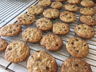 GF coconut chocolate chip wafer cookies