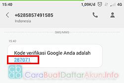 cara masukan nomor telepon di akun google